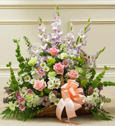 Thoughts and Prayers Fireside Basket - Pastel