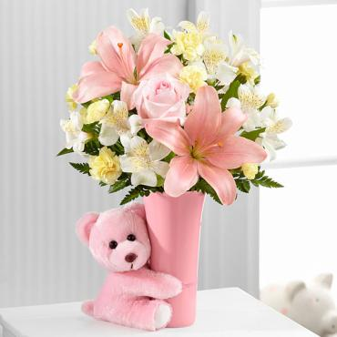 The Baby Girl Big Hug® Bouquet