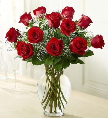 "Rose Eleganceâ""¢ Premium Long Stem Red Roses"