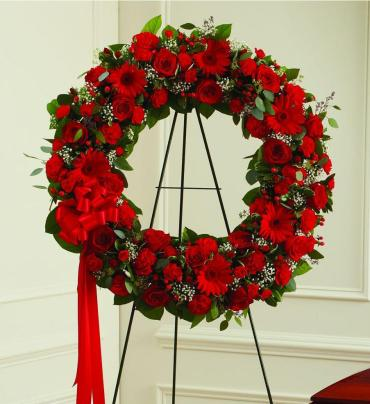 Red Sympathy Wreath